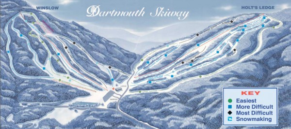 Dartmouth Skiway Trail Map