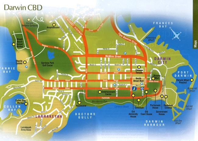 Darwin Australia City Map Darwin Australia mappery
