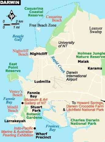 Darwin Map Of Australia.Darwin Australia City Map Darwin Australia Mappery