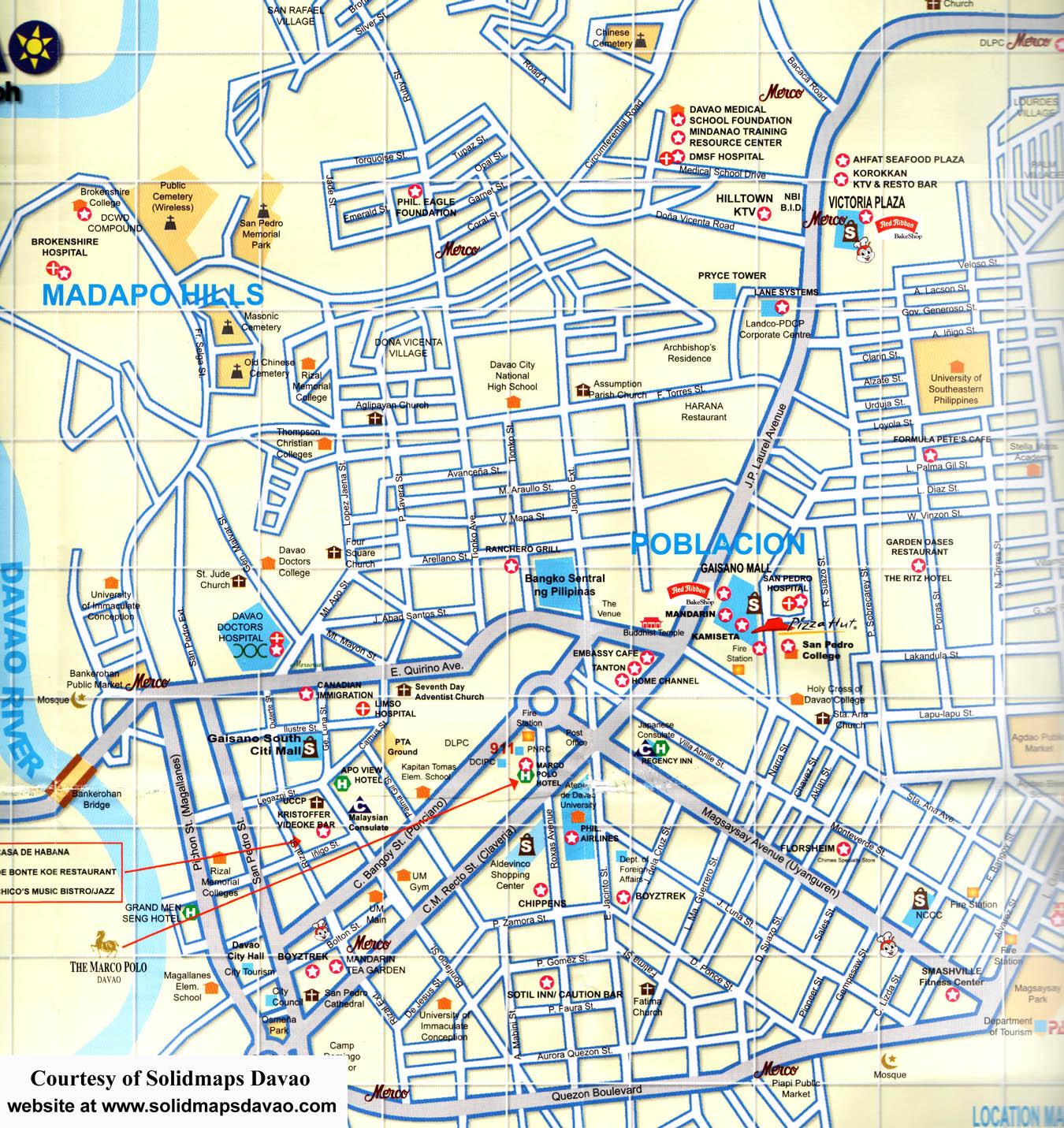 Davao City Map Davao City Phillipines mappery