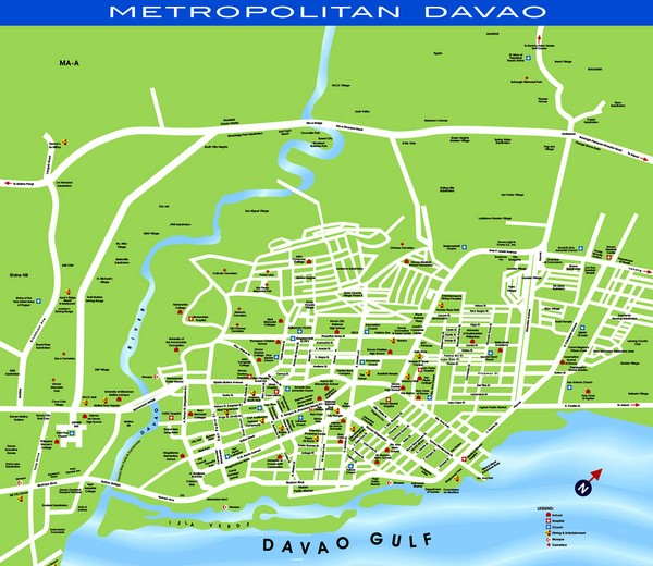 Davao Tourist Map