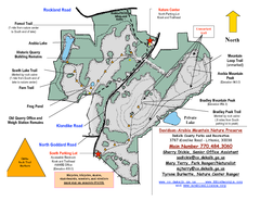Davidson-Arabia Mountain Nature Preserve Map