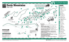 Davis Mountains, Texas State Park Map