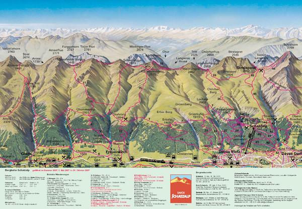 Davos Schatzalp Summer Trail Map - Davos Switzerland • mappery