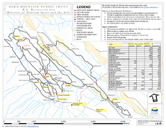 Dawn Mountain Nordic Ski Trail Map