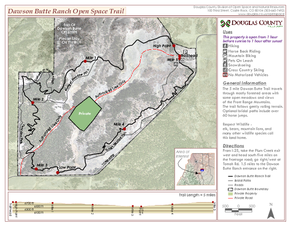 Dawson Butte Ranch Open Space Trail Map