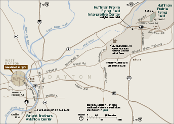 Dayton Aviation Heritage National Historical Park Official Map