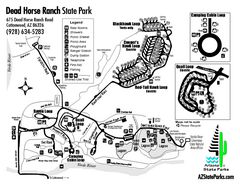Dead Horse Ranch State Park Map