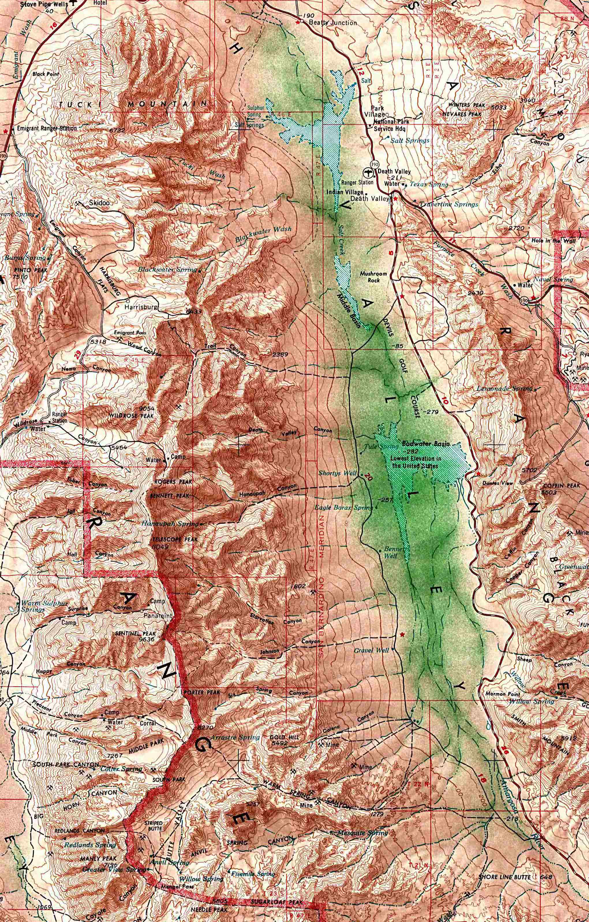 Death Valley National Park Map - Death Valley National Park • mappery