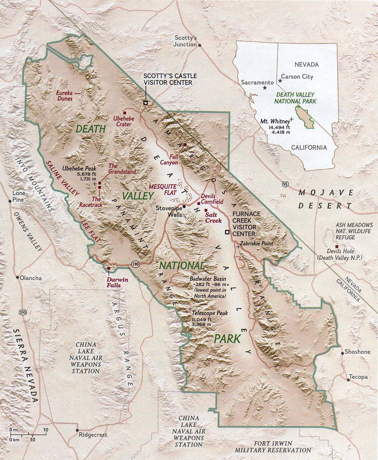 Maps Death Valley National Park U S National Park Service Updated