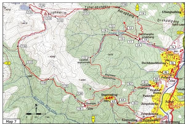 Dechenphu Valley Thimphu Map Thimphu mappery