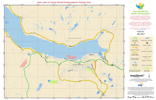 Deer Lake to Corner Brook/Newfoundland Trailway Park NL-012 Map