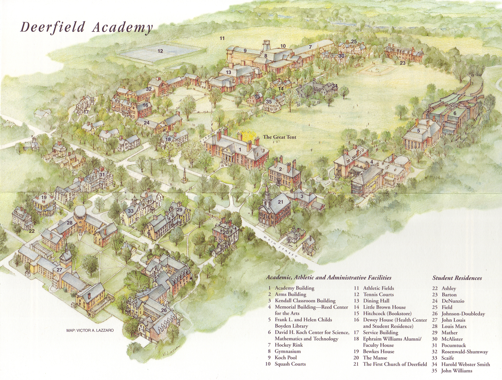 Deerfield Academy Campus Map Deerfield Mass Mappery