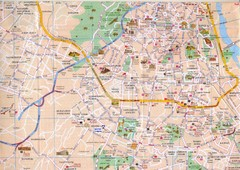 Dehli, India Downtown City Map
