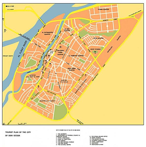 Deir Ez Zor City Map Deir Ez Zor Syria mappery
