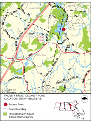 Delaney Conservation Land Map