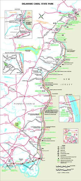 Delaware Canal State Park map