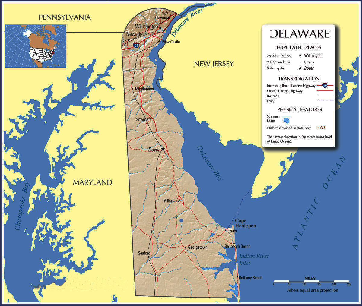 Delaware Tourist Map  Delaware  Mappery