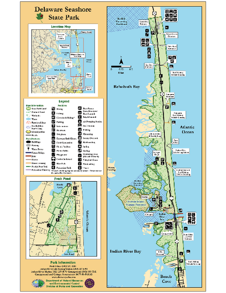 Deleware Seashore State Park Map