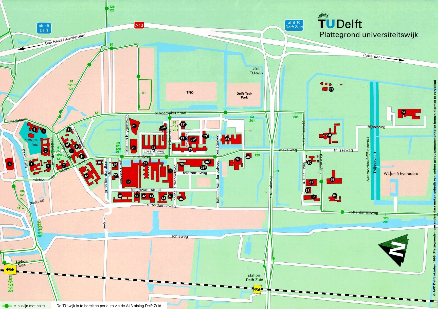 Delft University of Technology Map Delft The Netherlands mappery