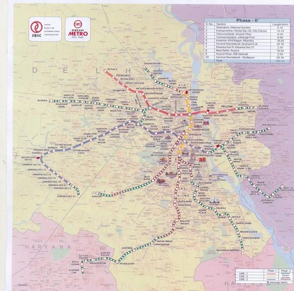 Delhi metro map dehli india mappery fullsize delhi metro map gumiabroncs Gallery