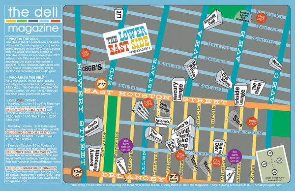 Lower East Side New York Map.Deli Magazines Lower East Side Music Venues Map Lower East Side