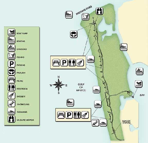 Delnor-Wiggings Pass State Park Map