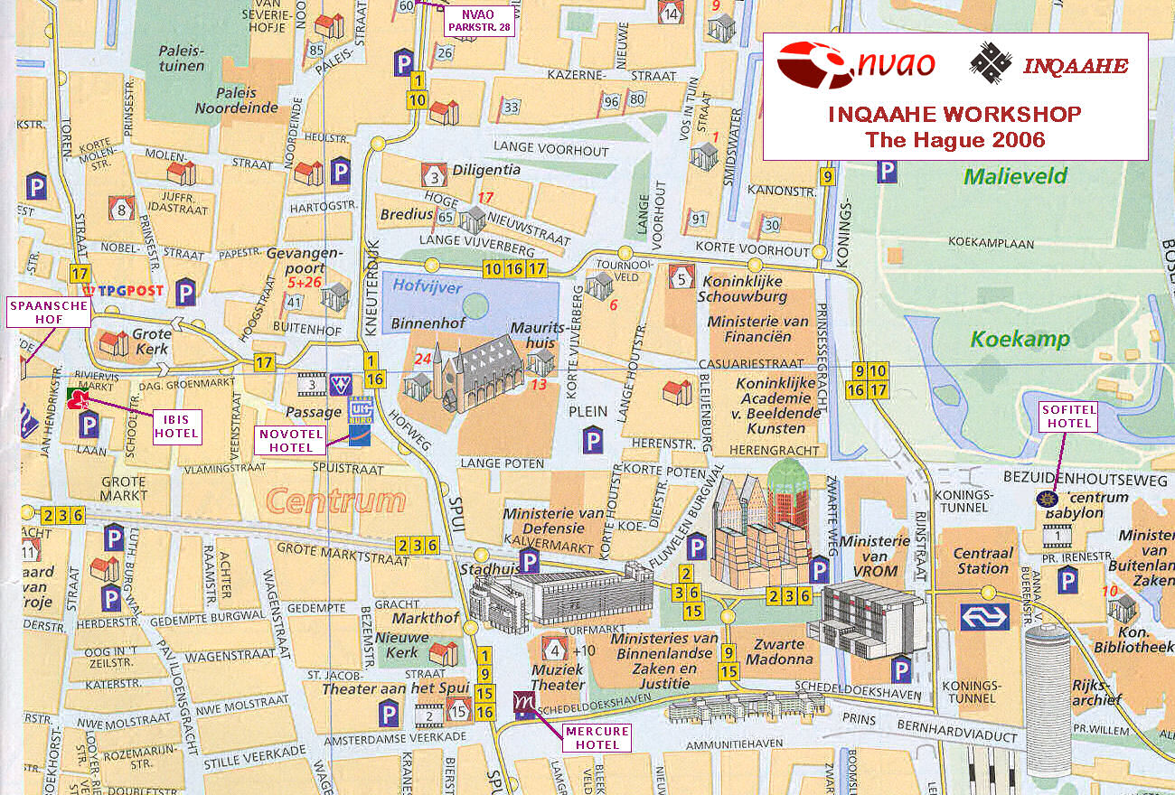 The Hague Tourist Map Den Haag Netherlands Tourist Map   Den Haag • mappery