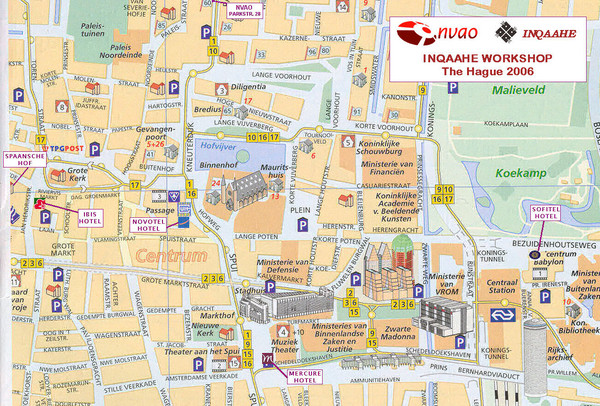 Den Haag, Netherlands Tourist Map