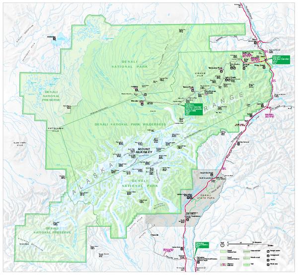 Map Of Denali National Park Ak Images