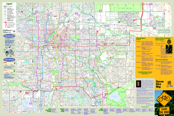 Bikes Denver Co Fullsize Denver Bike Map