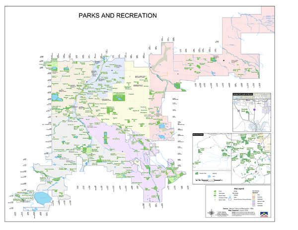 Denver City Parks map