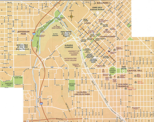 Denver Colorado City Map - Denver CO • mappery