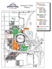 Denver, Colorado Invesco Field Parking Map