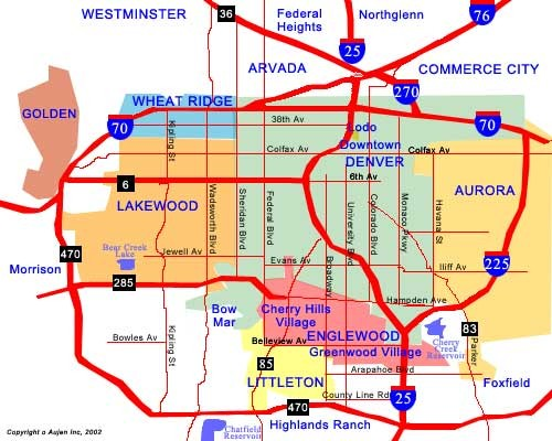 Denver Neighborhoods Map