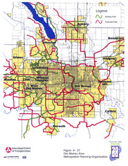 Des Moines, Iowa City Map