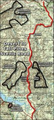 Desert to Tall Pines Scenic Byway Map