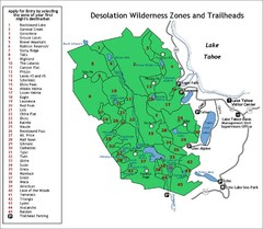 Desolation Wilderness Permits Zone Map