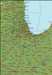 Detailed Indiana Area Road Map