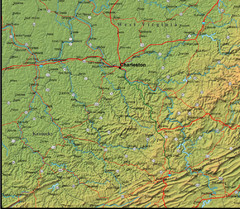Detailed West Virginia Area Map