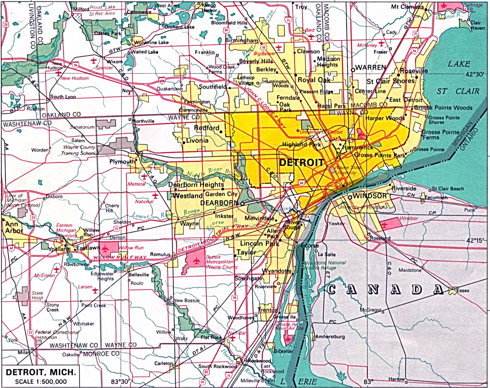 ann arbor michigan map with Detroit City Map on Grand Trunk Western Railroad also 1113 also Detroit besides Michigan additionally 200402088116.