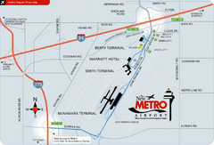 Detroit Metro Airport Area Map
