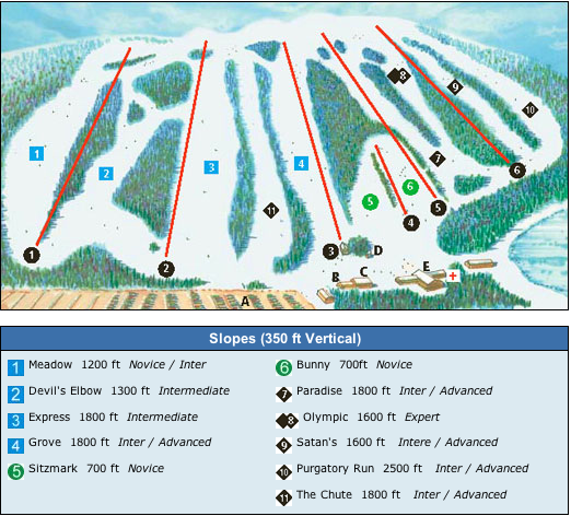 Devil's Elbow Ski Trail Map