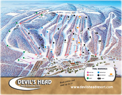 Devil's Head Resort Ski Trail Map