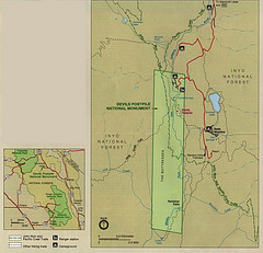 Devil's Postpile National Monument Map