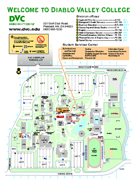 Diablo Valley College Map