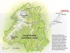 Diasetsuzan National Park Map