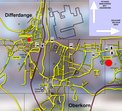 Differdange Bus Map