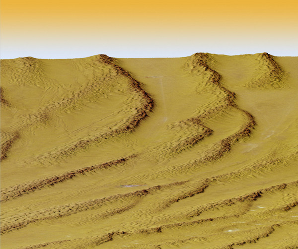 Digital Elevation Model Ataq, Yemen Map