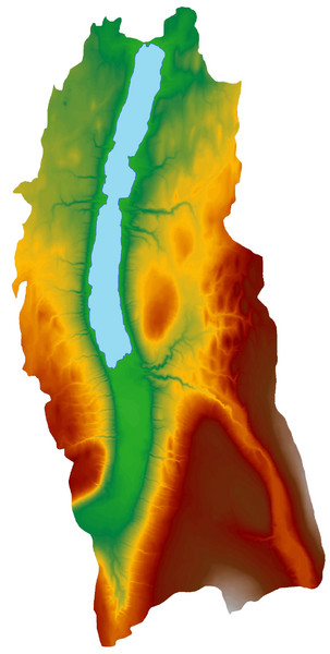 Digital Elevation Model (DEM) of Conesus Lake Map